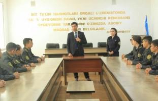 """Oʻzbekiston Respublikasi IIV Sirdaryo akademik litseyi oʻquvchilari bilan  """"Yosh Saylovchi…"""